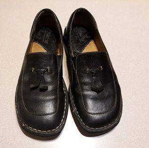 Børn Black Leather Loafers Size 7